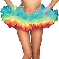 Amazon.com: Leg Avenue Women&#x27;s Rainbow Organza Tutu Dress: Clothing