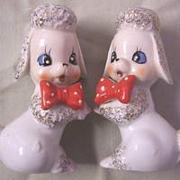 POODLE Salt and Pepper Shakers Japan Vintage 1950s S & P | SandyCreekCollectables - Collectibles on ArtFire