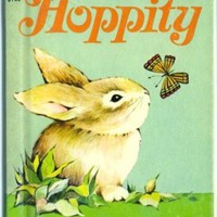 Hoppity Bunny Rabbit 1967 Rand McNally Children's Book by SandyCreekCollectables