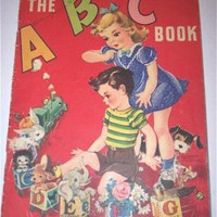 The ABC Book 1940 Whitman Childrens Book by SandyCreekCollectables