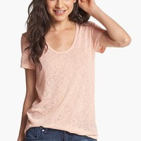Rubbish® Short Sleeve Textured Tee (Juniors) | Nordstrom