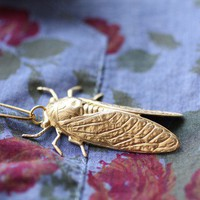 Cicada Metamorphosis Brooch by ChristineDomanic on Etsy