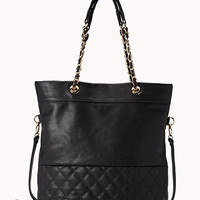 Quilted Faux Leather Tote | FOREVER 21 - 1040496915