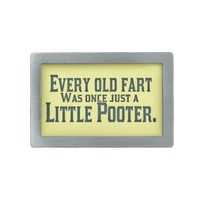 Old Fart - Little Pooter Rectangular Belt Buckle