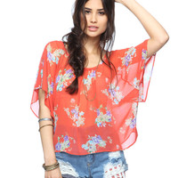 Sheer Floral Bouquet Top | FOREVER21 - 2000039321