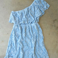 Ruffled Blue Lace Dress [3930] - $36.00 : Vintage Inspired Clothing & Affordable Summer Frocks, deloom | Modern. Vintage. Crafted.
