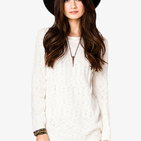Textured Knit Longline Sweater