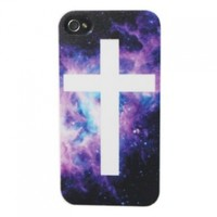Highsound Nice Fashion Night Sky Cross Sign Hard Back Protector Case Cover for iPhone 4 4S:Amazon:Cell Phones & Accessories