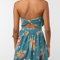 Kimchi Blue Printed Bow-Back Strapless Dress - pick BLACK MULTI