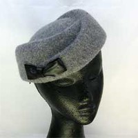 Beautiful ladies winter fashion felt hat.