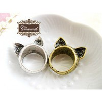 Kawayi Cat Ear Ring - Retro, Indie and Unique Fashion