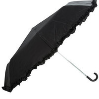 Black plain frill umbrella -  Dorothy Perkins United States