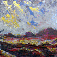 "Saatchi Online Artist: Alexandra Cook; Acrylic, 2011, Painting ""His Last Glimpse of the Sun"""