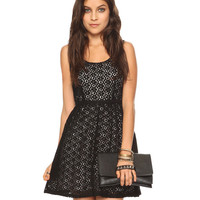 Contrast Lace Dress | FOREVER21 - 2000041796