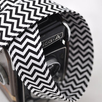 Digital Camera Strap - Black and White Chevron - dSLR Chevron Camera Strap