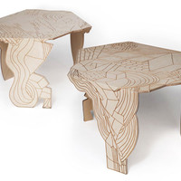 Burnt Doodle Table by Moroso, design at STYLEPARK