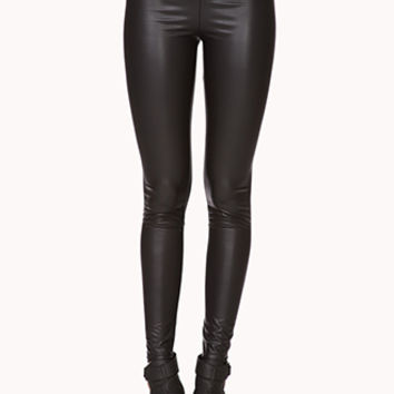 Retro Faux Leather Leggings