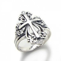 Sterling Silver Victorian Style Open Cross Ring(Sizes 4,5,6,7,8,9,10):Amazon:Jewelry