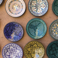 Moroccan Plates, Ensemble Artisanat, Ouarzazate, South of the High Atlas, Morocco Photographic Print by Walter Bibikow at AllPosters.com