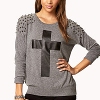 Spiked Cross Sweater