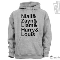 One Direction Hoodie - Niall, Zayn, Liam, Harry, & Louis Hooded Sweatshirt - 010
