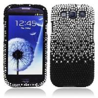AI Black Splash Rhinestone Bling Hard Case Snap On Cover For Samsung Galaxy S3 i9300:Amazon:Cell Phones & Accessories