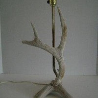 Antler Table Lamp by theButterDish on Etsy