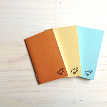 Notebooks: 3 Tiny Journals Set, Bird, Put A Bird On It, For Him, For Her, Jotters, Mini Journals, Small Notebooks, - Set of 3