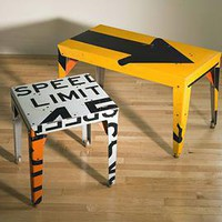 Pop Table: Boris Bally: Metal Table - Artful Home
