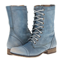 Steve Madden Troopa Blue Leather - Zappos.com Free Shipping BOTH Ways
