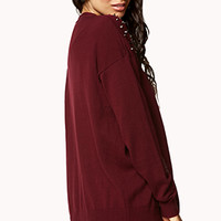 Studded Shoulder Cardigan | FOREVER 21 - 2040496158