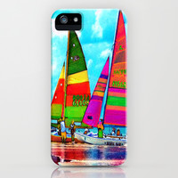 Neon Sailboats -Daytona Beach iPhone & iPod Case by Rokin Art by RokinRonda