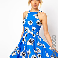 ASOS Petite | ASOS PETITE Exclusive Skater Dress In Floral Print at ASOS