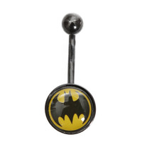 DC Comics 14G Batman Logo Navel Barbell | Hot Topic