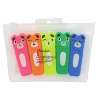bear highlighters - pack of 5 at Paperchase