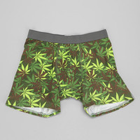Leaf Camo Boxer Brief- Olive M