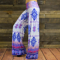 Blurred Color Pink Palazzo Pants