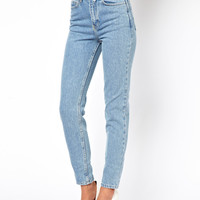 American Apparel | American Apparel Short Leg High Waist Jean at ASOS