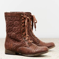 AEO Crocheted Lace Front Boot | American Eagle Outfitters