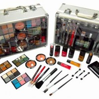 SHANY Cameo Cosmetics Carry All Trunk Makeup Kit with Reusable Aluminum Case Exclusive Holiday Gift Set:Amazon:Beauty