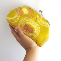 Large cosmetic pouch- yellow