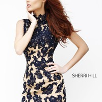 Sherri Hill 21188 Short Lace Homecoming Dress