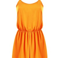 LOVE Marigold Chiffon Yoke Playsuit