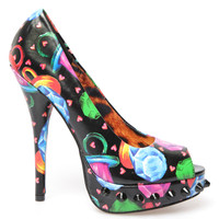 Iron Fist Ring Pop Platform Heels - Black