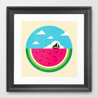Watemelon Deep Framed Art Print by Ivan Rodero