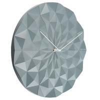 Karlsson Facet Wall Clock - Grey