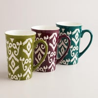 Ikat Stoneware Mugs | World Market