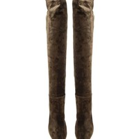 GIANVITO ROSSI | Suede Knee High Boots | Browns fashion & designer clothes & clothing