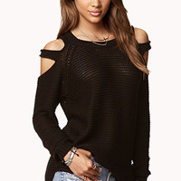 Chunky Cutout Shoulder Sweater | FOREVER 21 - 2021841126