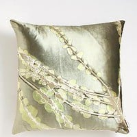 Limone Bronti on Bittermint: Aviva Stanoff: Silk Pillow - Artful Home
